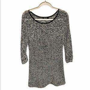 NIC+ZOE Crochet Knit Mini Dress Size Large